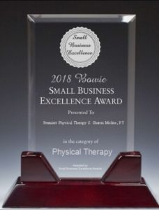 2018 PREMIERE PHYSICAL THERAPY SELECTED SMALL BUSINESS EXCELLENCE